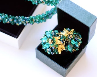 "Earrings ""Blooming fern"""