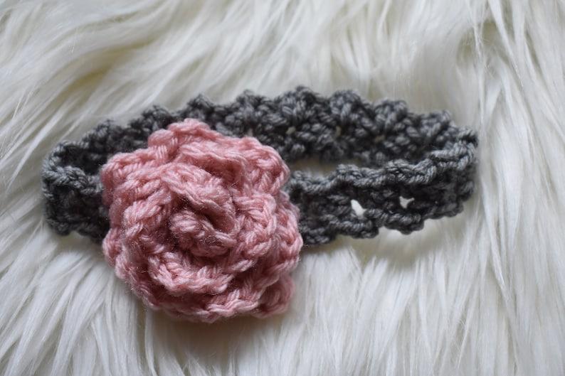 Crochet Headband Crochet Baby Girl Headband Flower Headband Etsy