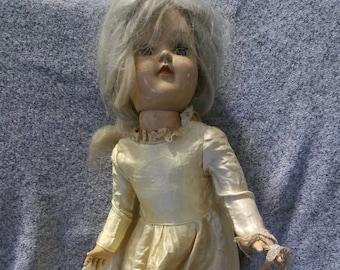 Antique Vintage Creepy Doll