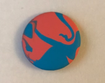 Hand-Painted Pin: Modern Marble