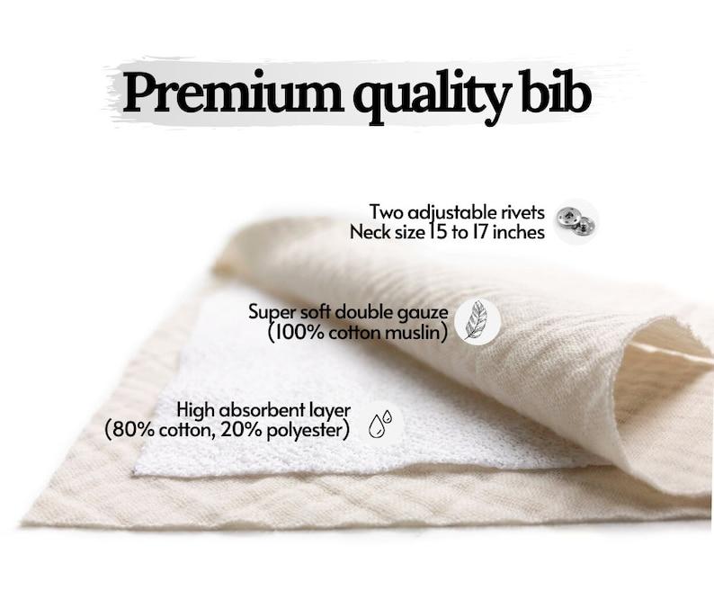 Organic Baby shower gift Muslin bibs Soft cotton and Waterproof 27 color option Bandana bibs Absorbent Dribble bibs Baby burp clothes