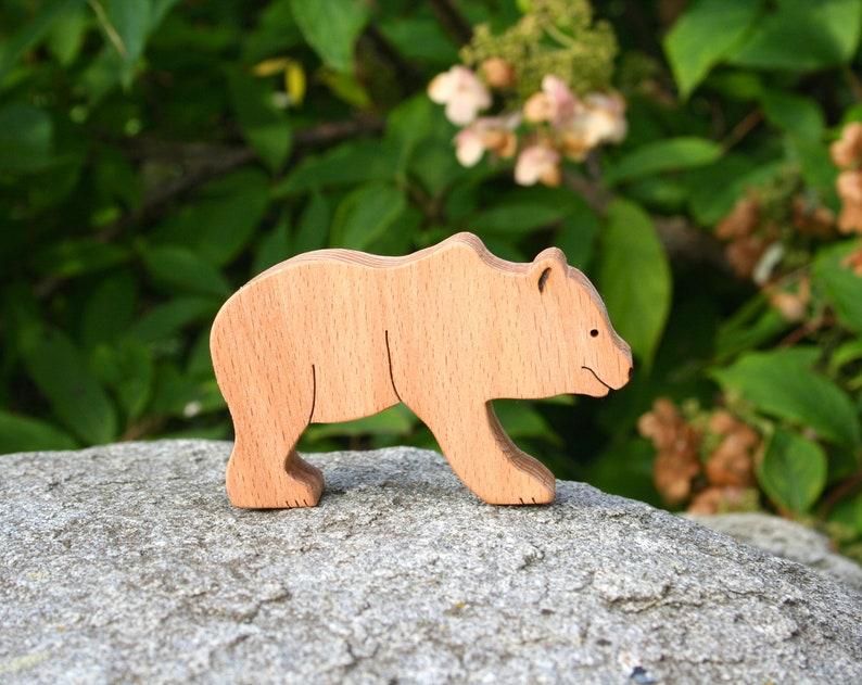 Wooden bear toys Waldorf educational toy Waldorf toys | Etsy