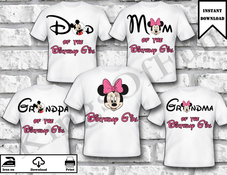8629f5080 Mickey & Minnie Mouse Family Set Birthday shirts for whole | Etsy