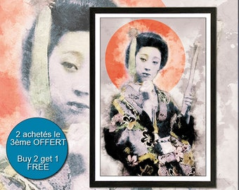 Art print Samurai, Geisha, Bushido, Shogun, Japan, print, Wall Art, Gift, Poster, Art Print