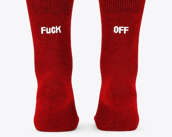 rude fun gift Adult ankle socks Ladies Trainer Sock with CUNT or TWAT design on sole 18+ feet sweary Mature