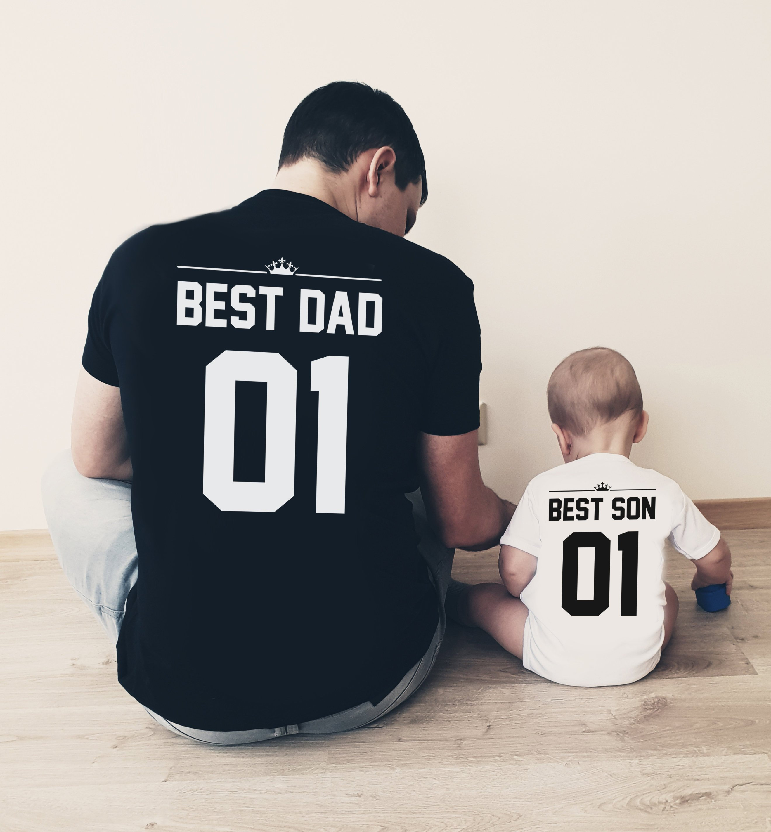b83ed1440 Best Dad Best Son Shirts Dad and Son Matching T-Shirts | Etsy