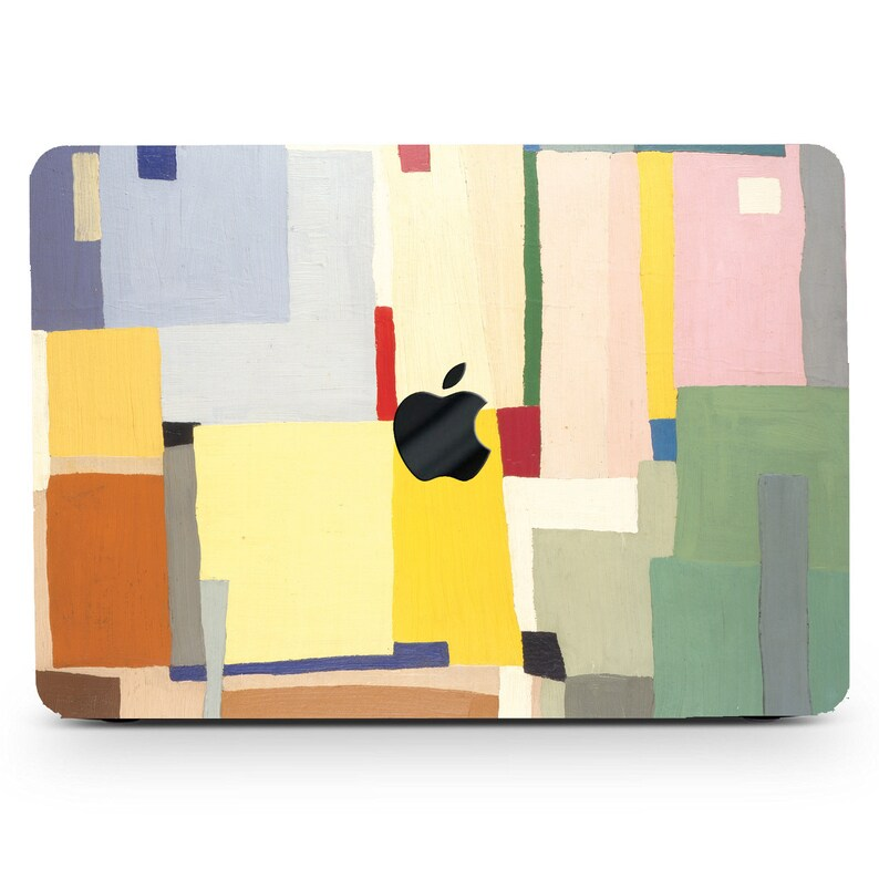 Geometric Abstract Print Hard Laptop Case Modern Geometry Art Painting Rubberized Cover for Macbook Air Pro 11131516 2020+Keyboard Skin