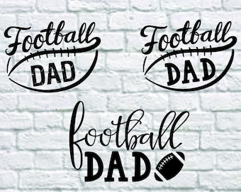 3 Styles Football Dad Svg Bundle, Football Dad Dxf, Football Dad files for Cricut, Print, Cutting...Svg, Dxf, Png, Eps