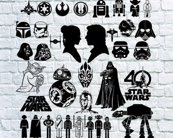 Star Wars svg, Star Wars dxf, Star Wars printable silhouette stencil file cricut vector cut file cutting file eps vector files