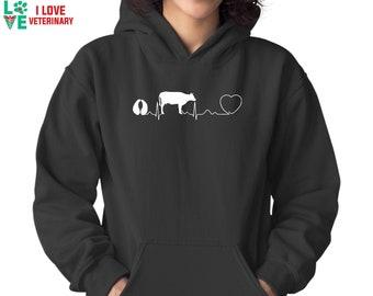 Veterinarian Love Cat and Dog Veterinary Mens Printed Hooded Sweatshirt Sweater