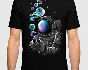 Space Soap Bubbles Art T-shirt, All Sizes