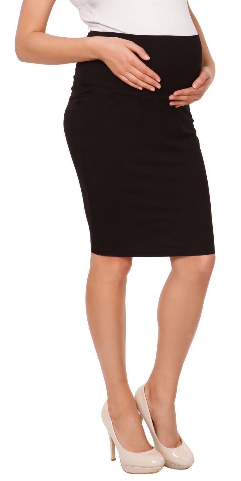 f44b524f8e6f0 Happy Mama Women's Maternity Pencil Skirt Overbump Elastic   Etsy