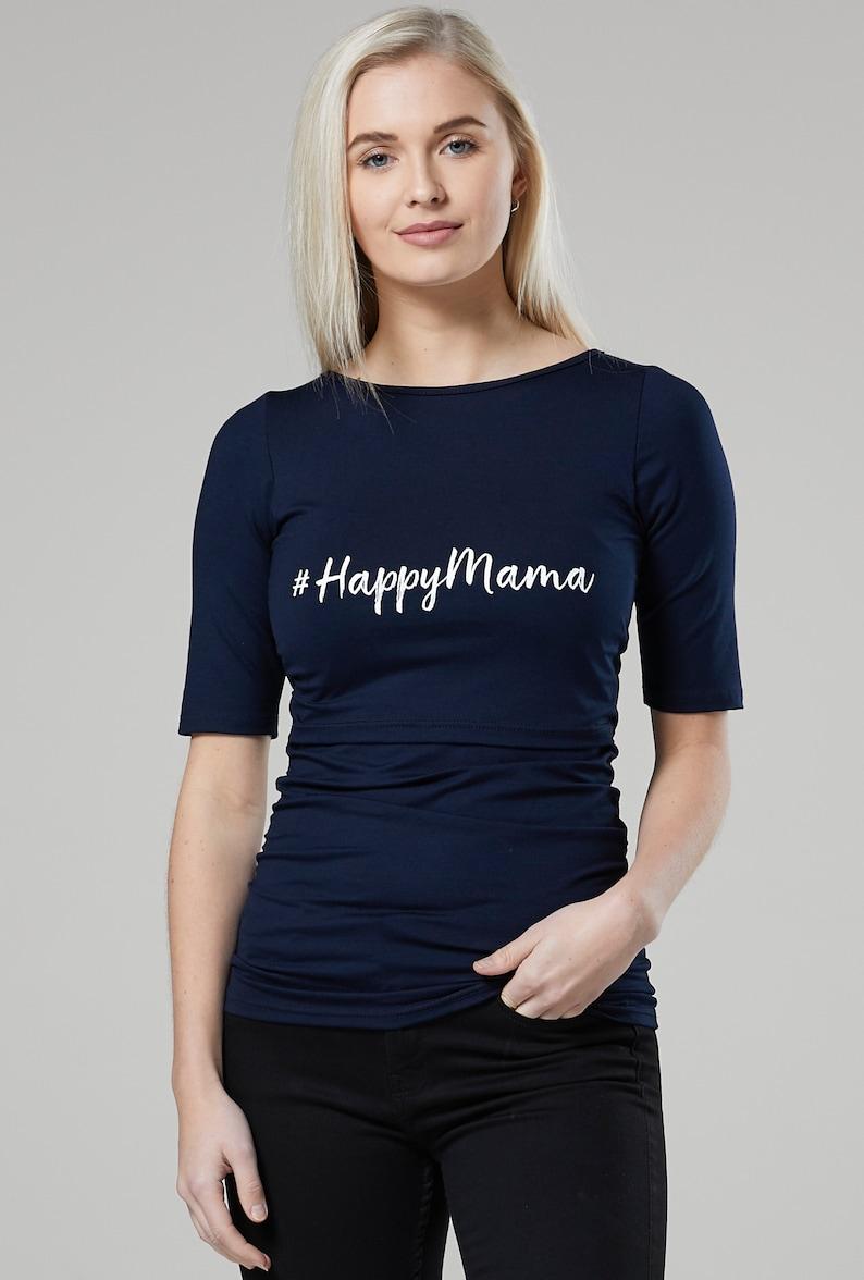 HAPPY MAMA Womens Maternity Nursing Logo Shirt Layered Top 455p