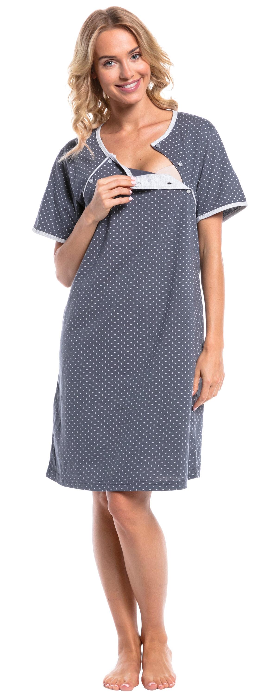 Happy Mama Womens Maternity Hospital Gown Nightie Polka Dot   Etsy