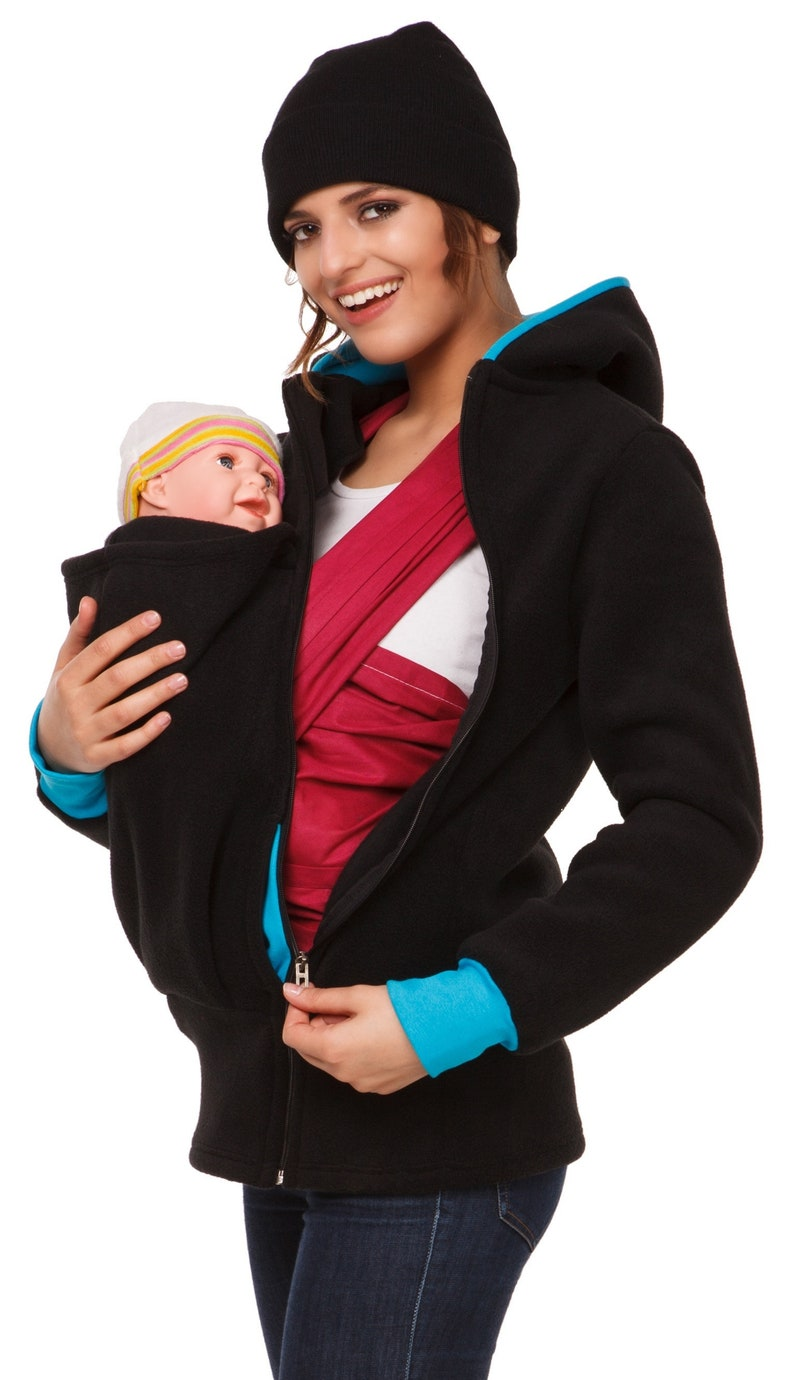 193bcc6e316 Happy Mama. Womens Maternity Fleece Hoodie Duo Top Carrier