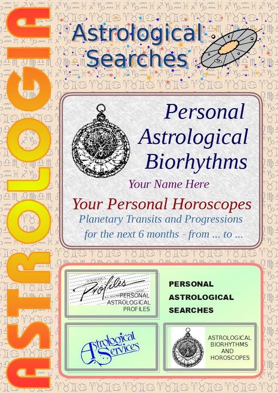 Personal Horoscope Astrological Biorhythms Astrology Etsy