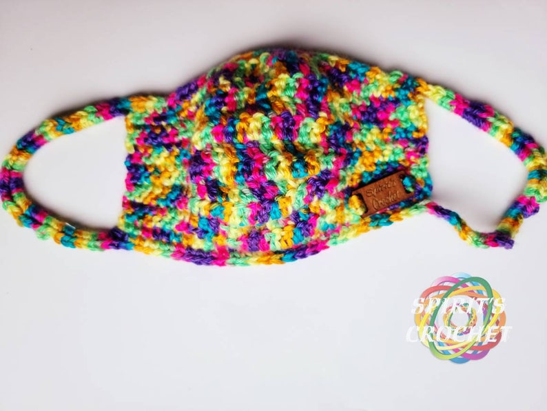 Rainbow bright matching hat and mask