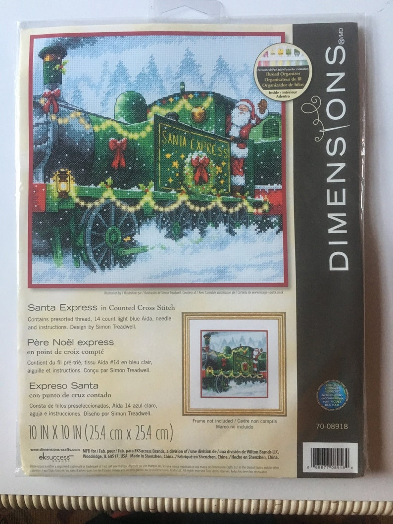 Dimensions Santas Express Counted Cross Stitching Kit 14 Count Etsy
