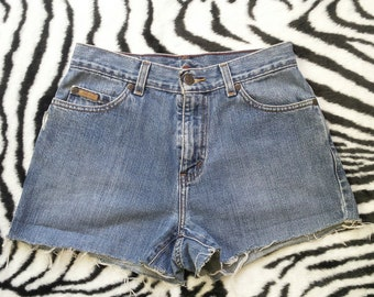 Vintage Eddie Bauer Denim Cut Off Jean Shorts Womens High Waisted Relax Fit