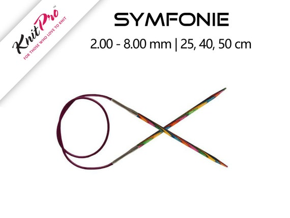 Multi-Color KnitPro 150 cm x 4 mm Symfonie Fixed Circular Needles