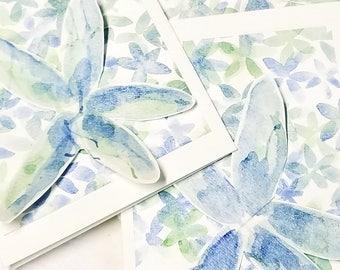 Floral Original Art Notecards - Set of 4