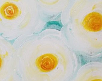 Yellow Victorian Roses, Original Painting