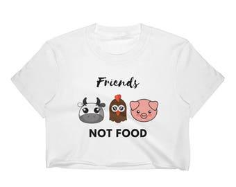 Vegan- Women's Crop Top- Friends Not Food