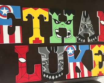 ideas for decorating wooden letters.htm avengers letters etsy  avengers letters etsy