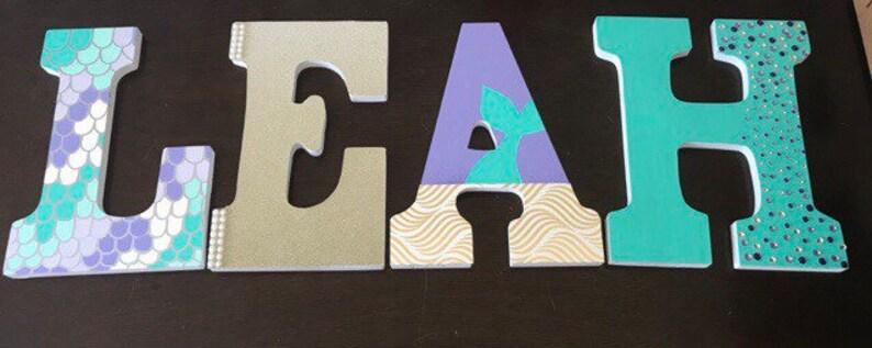 Mermaid Wooden Letters