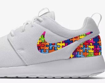 Nike Roshe Autism Awareness Custom Made Sneakers a3e4bb410
