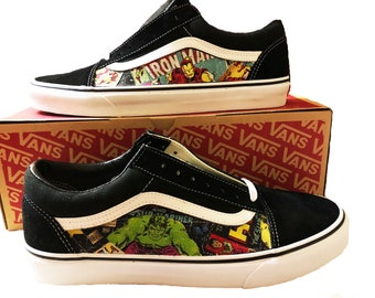 bea810d96407 Marvel Custom Made Vans Old Skool Skate Shoe (NEW) Trending Now Comics