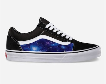 7a0fb7fa71 Galaxy Custom Made Vans Old Skool Skate Shoe (NEW) Trending Now Science  Nasa Shoes