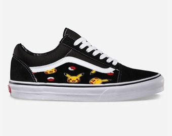 2d48aca109e28b Pikachu Custom Made Vans Old Skool Skate Shoe (NEW) Trending Now Pokemon