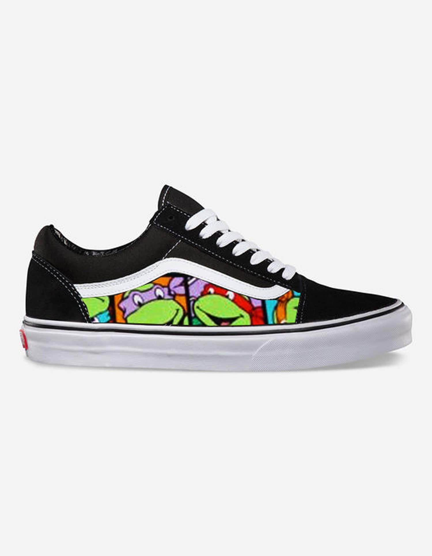 d941db1b84 Ninja Turtle Custom Made Vans Old Skool Skate Shoe NEW