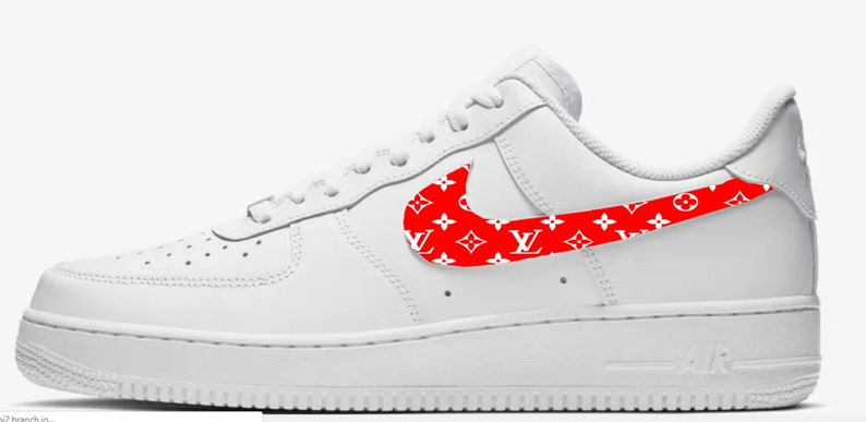 wholesale dealer 93c74 5c0db LV inspired Custom Hand Painted Nike Air Force 1 Shoe NEW   Etsy