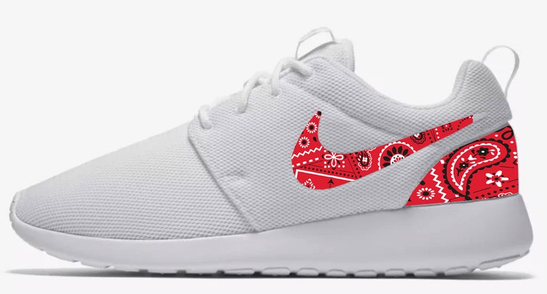 Nike Roshe Red Bandana Custom Made Sneakers