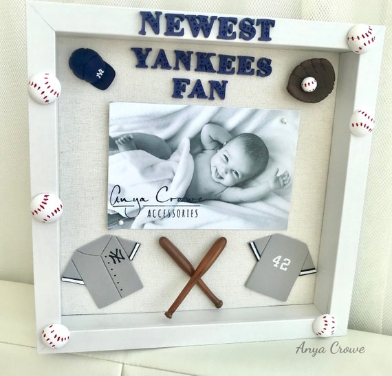 Yankee Shadowbox Picture Frame Personalized Baby Clay Foot Etsy