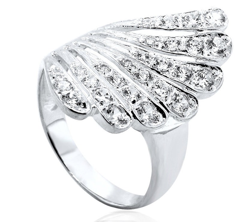 Sterling Silver Gents Gypsy CZ Ring Many Sizes NEW