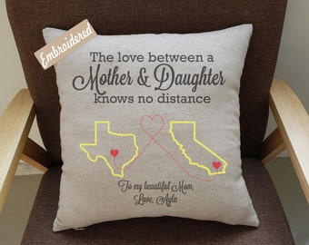 Pillowcases Long Distance Mom Daughter Pillow Casemom Birthday Giftmothers Day Gift From Daughtermother Love Knows No