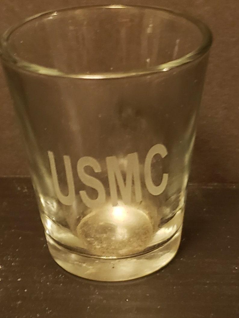 USMC SHOT GLASS   1.5 oz image 0