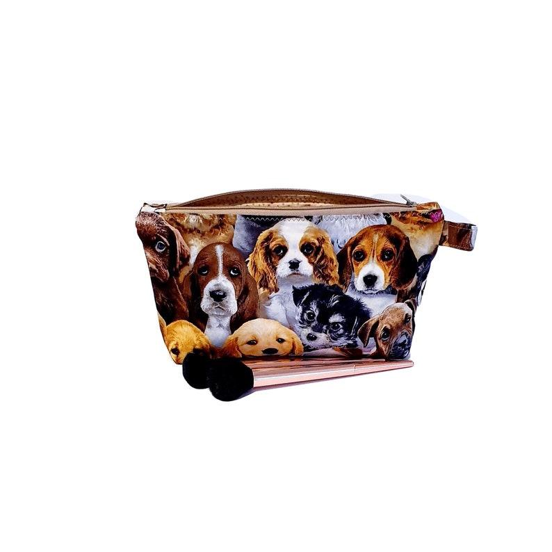 69c68a8ba35f Dogs print makeup zipper bag / Toiletry bag /Pencil holder