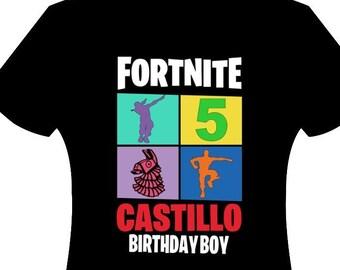 Fortnite Birthday Shirt Etsy