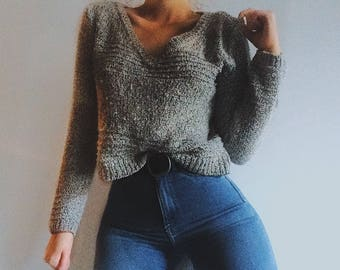American Rag cropped sweater, hemmed