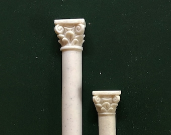 Miniature architectural Composite columns 1/12th scale hand carved and cast