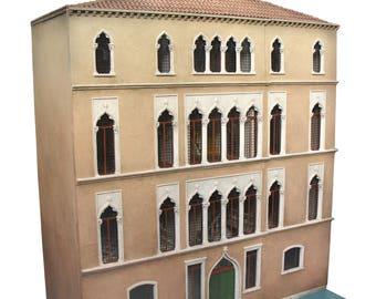Venetian Palazzo Miniature dolls house 1/12th scale