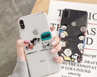 699c058886 Cute Snoopy and Charlie Brown Apple iPhone Case / TPU case for iPhone 8 8  Plus, iPhone X XS , iPhone XR and iPhone Xs Max