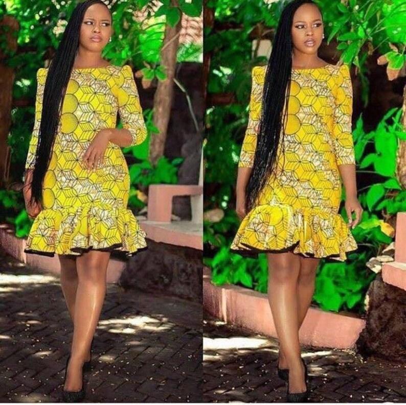 c4eaaa536c5 African short dress african fashion african style Ankara