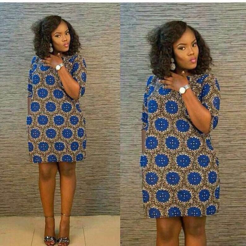 711233048ed African short dress ankara dress african style african