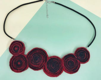 Lollipop Necklace – Red