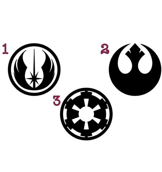 Star Wars Symbols Decal Galactic Republic Rebel Alliance Etsy